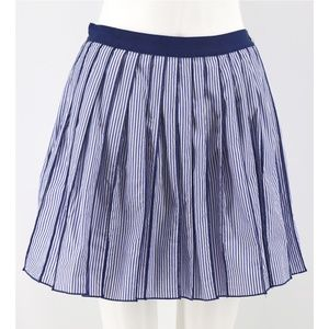Vineyard Vines Striped Pleated Cotton A-Line Skirt